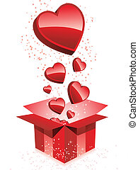Happy Valentine's Day  Gift with Hearts