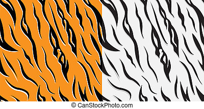 Skin of a tiger