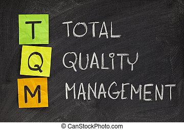 total quality management - TQM acronym (total quality...