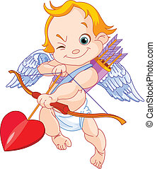 Valentines Cupid - Illustration of a Valentines Day cupid...