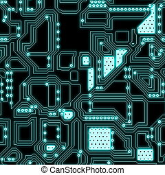 Seamless Circuitry Background as a Texture Art
