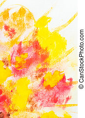 Watercolor floral background - Macro detail of grunge...