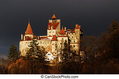 Bran Castle, Romania - Medieval Bran castle in Romania,...