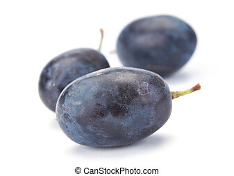 Grape fruit - Fresh blue grape fruit on white background