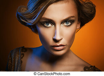 Portrait of an attractive blonde - Glamour portrait of an...