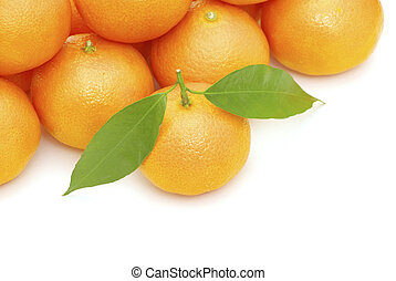 mandarine  - fresh mandarine isolated on a white background