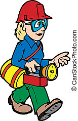 search gal - a rescue worker searching for a person