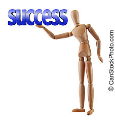 success word manikin - Manikin model holds word success