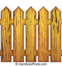 Seamless picket fence - Image of wooden protection which is...