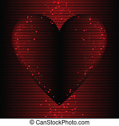 Warm heart background