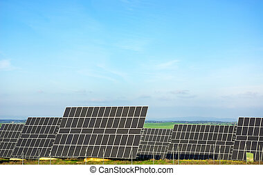 Photovoltaic panels .