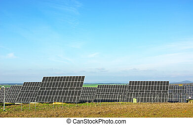 Photovoltaic panels.