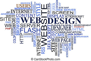 Design and web tags cloud for design