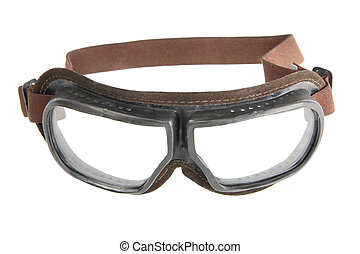 protective glasses - transparent protective glasses isolated...