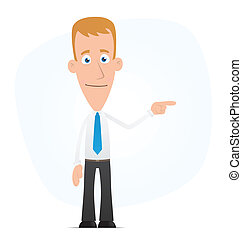 Manager points his finger in the side - Illustration of a...