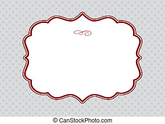 Vector Red Frame and Ornate Pattern - Vector ornate frame...