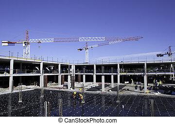 construcción, sitio