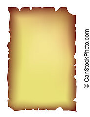 old ragged parchment - vector - Image of the old parchment...