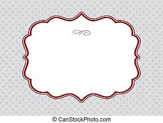 Vector Red Ornate Frame