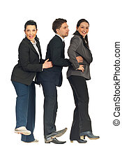 Successful business people dancing - Successful business...