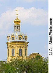 dome of Peter and Paul Cathedral - View of dome of Peter and...