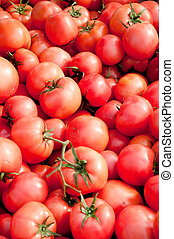 tomatoes at the outside market forsale