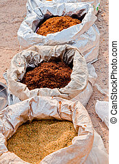 tobacco 71 - brown red and tan tobacco in sacks forsale