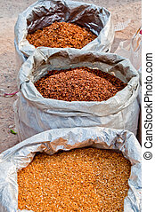 tobacco 83 - gold, red and tan tobacco in sacks forsale
