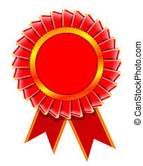 Illustration of award rosette - realistic illustration of...