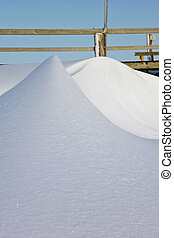 Snowbank - Bank of snow in St. Peter-Ording, Germany
