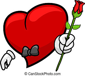 Heart Giving a Rose