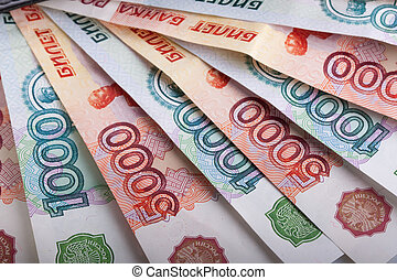 Russian one and five thousands banknotes - Russian one and...
