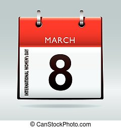 International womens day on 8th march 2011 calendar icon