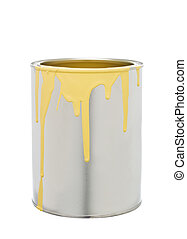 Paint Can with Yellow spill