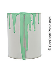 Paint Can with Green spill