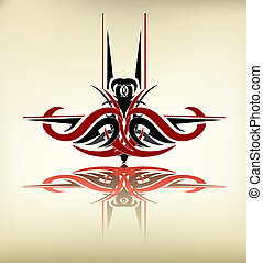 Tribal art - Abstract shape created in tribal art style