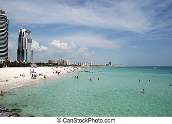 South Beach and High Rise Condominiums - View of South Beach...