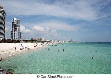 South Beach and High Rise Condominiums - View of South Beach...