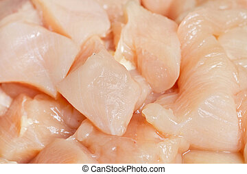 chunks of cut chicken - cubed fresh chicken breast