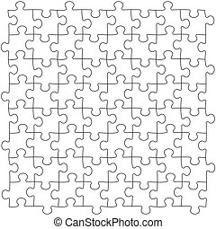Puzzles seamless template