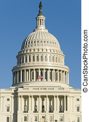US Capitol Building - The western side of the dome of the US...