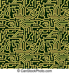 Abstract seamless texture - circuit board - Abstract...