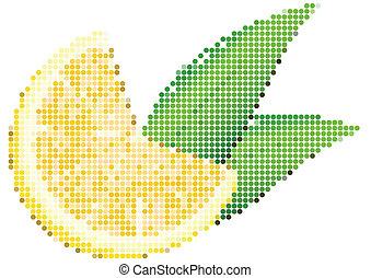 Dot Style Illustration of Lemon