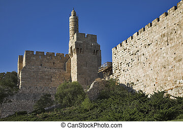 Eternal relic. - The ancient walls surrounding Old city in...