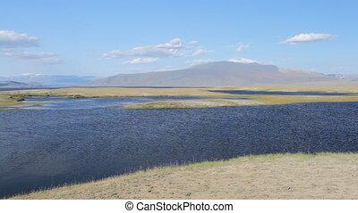 Mountain lake Dayan Nuur - Dayan Nuur lake Dayan in...