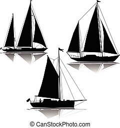 Yachts sailing three