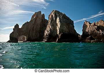 Rock - A rock formation in a tropical sea