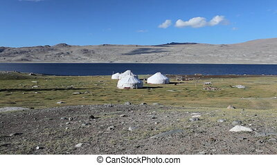 Mountain yurt at Khoton Nuur lake