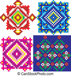 Ukraine ethnic patterns - Seamless embroidered good like...