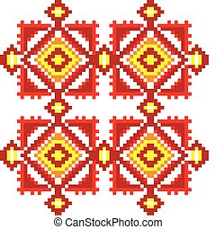 Ukraine ethnic pattern.